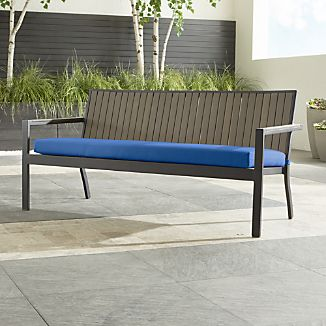 "Alfresco Grey Sofa with Sunbrella ® 3"" Cushion"