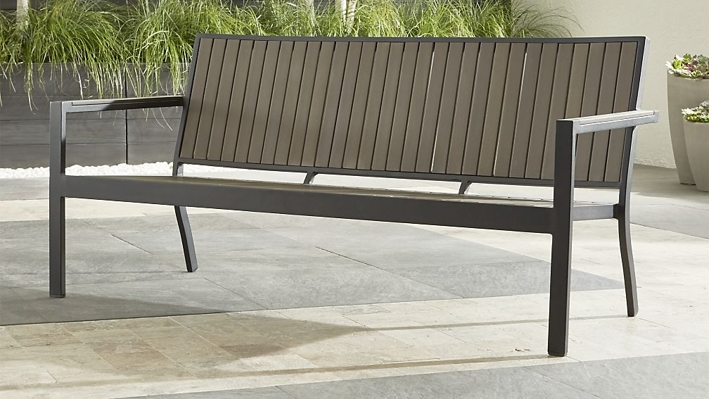 Alfresco Grey Outdoor Sofa Crate and Barrel