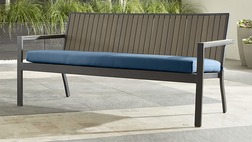 Alfresco II Grey Sofa with Sapphire Sunbrella ® Cushion - Image 1 of 5