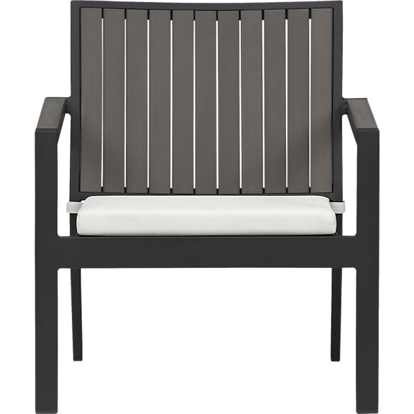 Alfresco Grey Lounge Chair with Sunbrella ® Eggshell Cushion