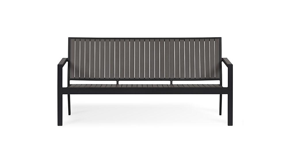 Alfresco Grey Outdoor Sofa Crate and Barrel