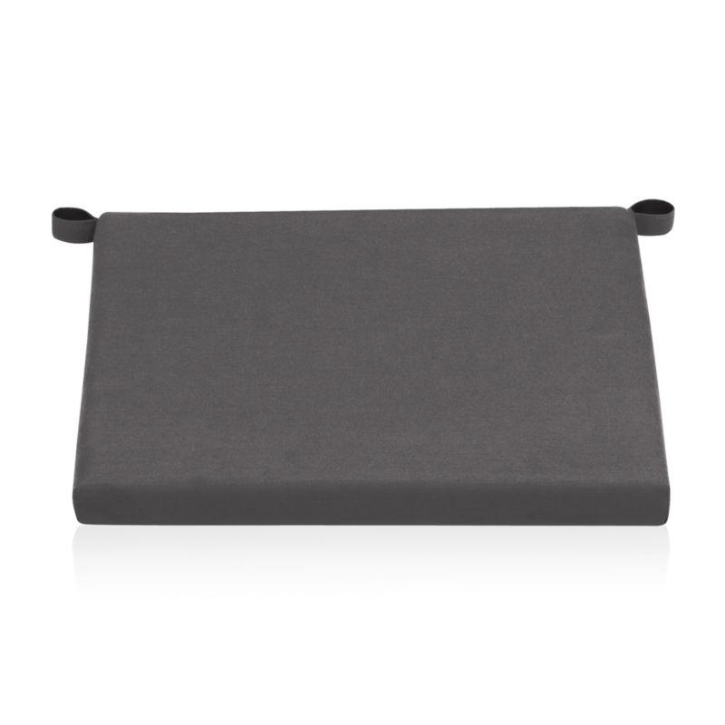 Add extra comfort to Alfresco lounge chair seating with fade-, water- and mildew-resistant Sunbrella® acrylic cushions in chic charcoal.<br /><br /><NEWTAG/><ul><li>Fade- and mildew-resistant Sunbrella acrylic</li><li>Polyurethane foam cushion fill</li><li>Fabric tab fasteners</li><li>Spot clean</li><li>Made in USA or China</li></ul>
