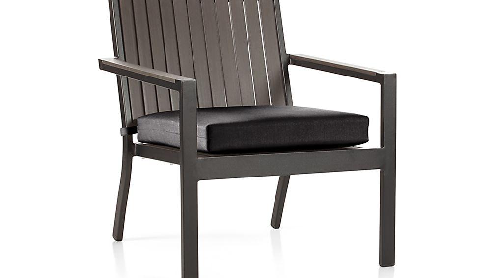"Alfresco Grey Lounge Chair with Sunbrella ® 3"" Cushion"