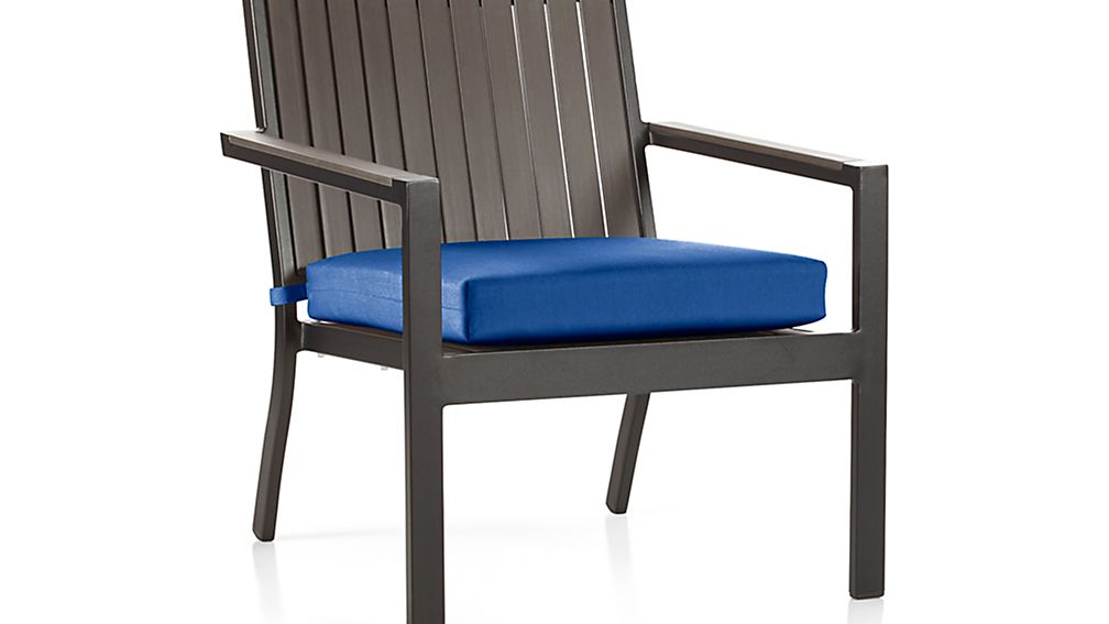 "Alfresco Grey Lounge Chair with Sunbrella ® 3"" Cushion"