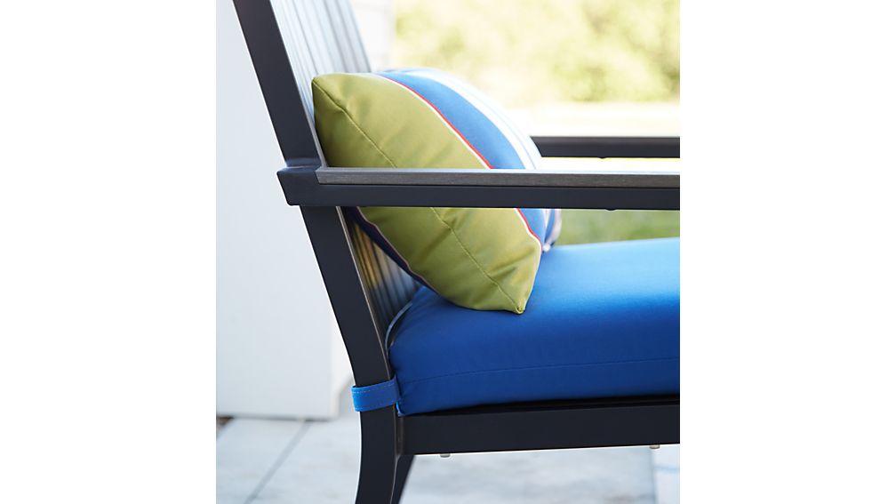 Crate And Barrel Chair Covers ... Cushion Sunbrella: Mediterranean Blue | Crate and Barrel