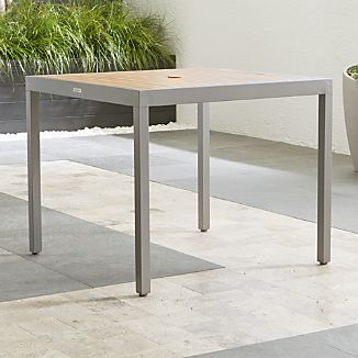 alfresco ii natural caf table - Small Space Patio Furniture