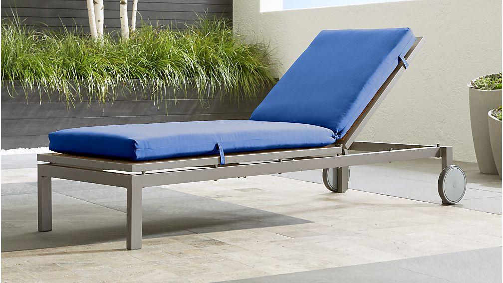 "Alfresco Natural Chaise Lounge with Sunbrella ® 3"" Cushion"