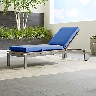"Alfresco Natural Chaise Lounge with Sunbrella ® 3"" Cushion"