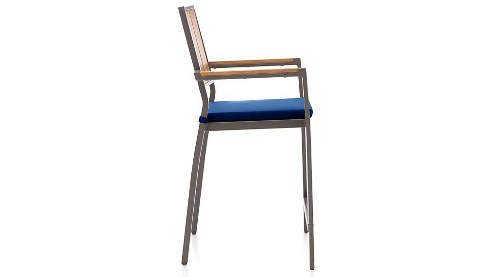 "Alfresco Natural 24"" Counter Stool with Sunbrella ® Cushion"