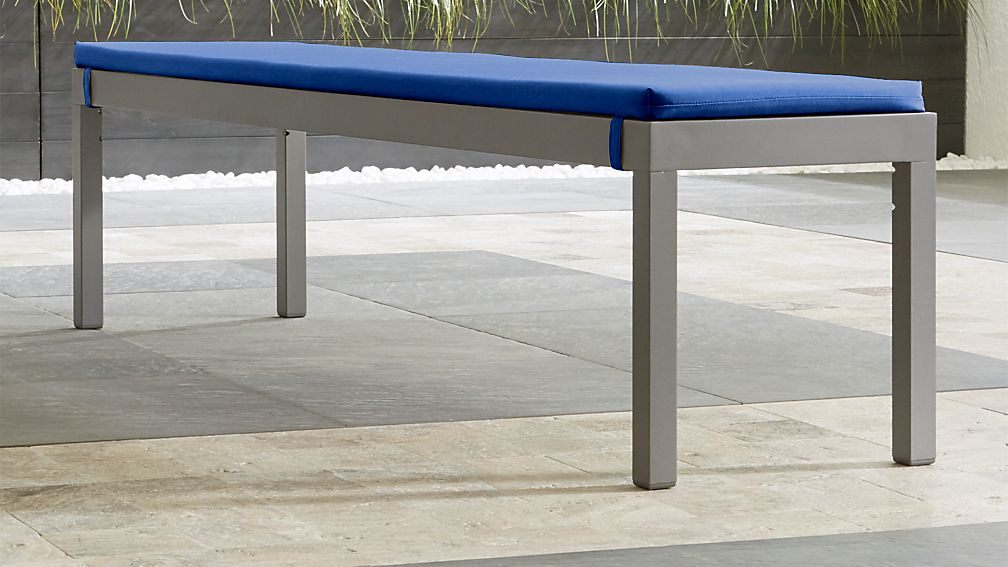 Alfresco II Natural Dining Bench with Sunbrella ® Cushion - Image 1 of 3