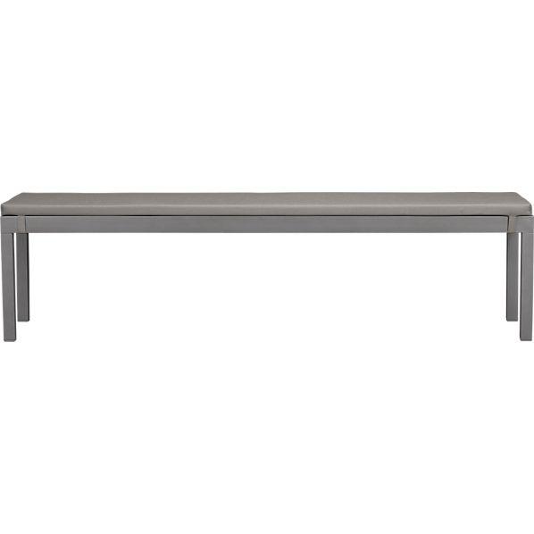 Alfresco Natural Dining Bench with Sunbrella ® Graphite Cushion