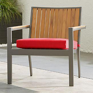 """Alfresco Natural Lounge Chair with Sunbrella ® 3"""" Cushion"""