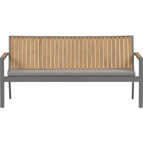 Alfresco Natural Sofa with Sunbrella ® Graphite Cushion