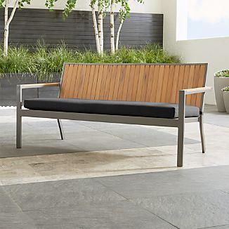 "Alfresco Natural Sofa with Sunbrella ® 3"" Cushion"