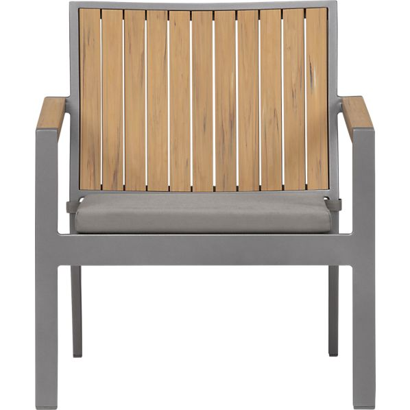 Alfresco Natural Lounge Chair with Sunbrella ® Graphite Cushion