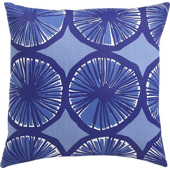 "Marimekko Appelsiini Blue 20""sq. Outdoor Pillow"