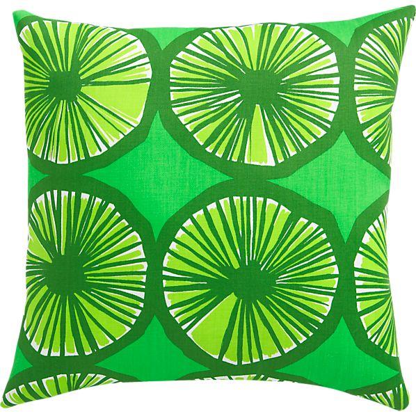 "Marimekko Appelsiini Green 20""sq. Outdoor Pillow"