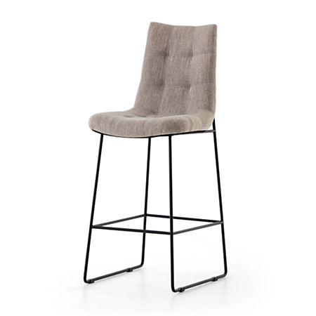 Awesome Naomi Dempsey Flannel Tufted Bar Stool Crate And Barrel Dailytribune Chair Design For Home Dailytribuneorg