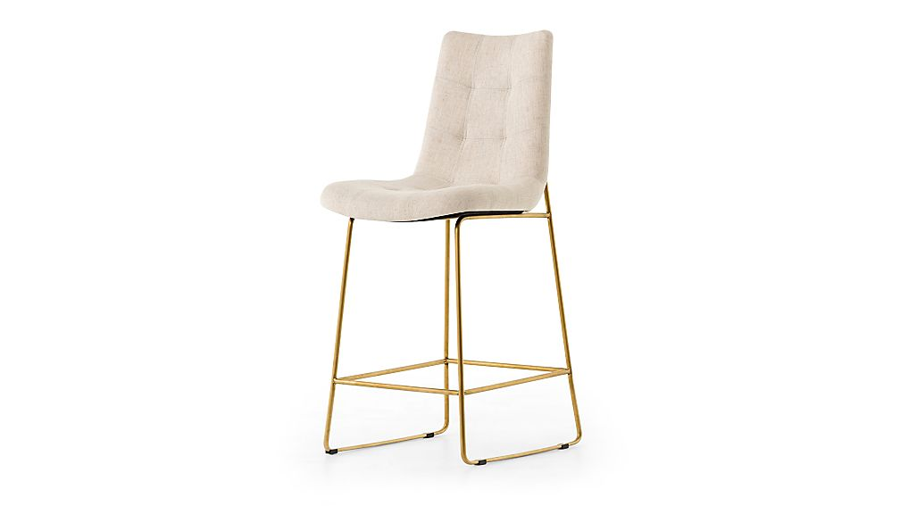 Naomi Dempsey Flax Tufted Counter Stool - Image 1 of 4