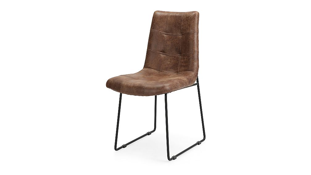 Naomi Vintage Tobacco Tufted Dining Chair - Image 1 of 7