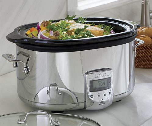 Silver All-Clad slow cooker