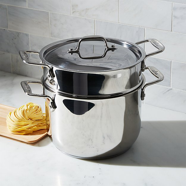 All Clad Stainless Steel 6 Qt Pasta Pot With Lid