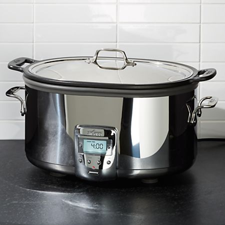 All Clad 7 Quart Deluxe Slow Cooker With Aluminum Insert