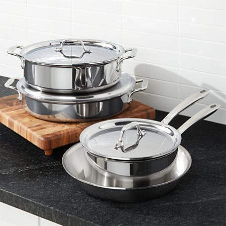 All-Clad D3 Compact 7-Piece Cookware Set + Reviews | Crate and Barrel