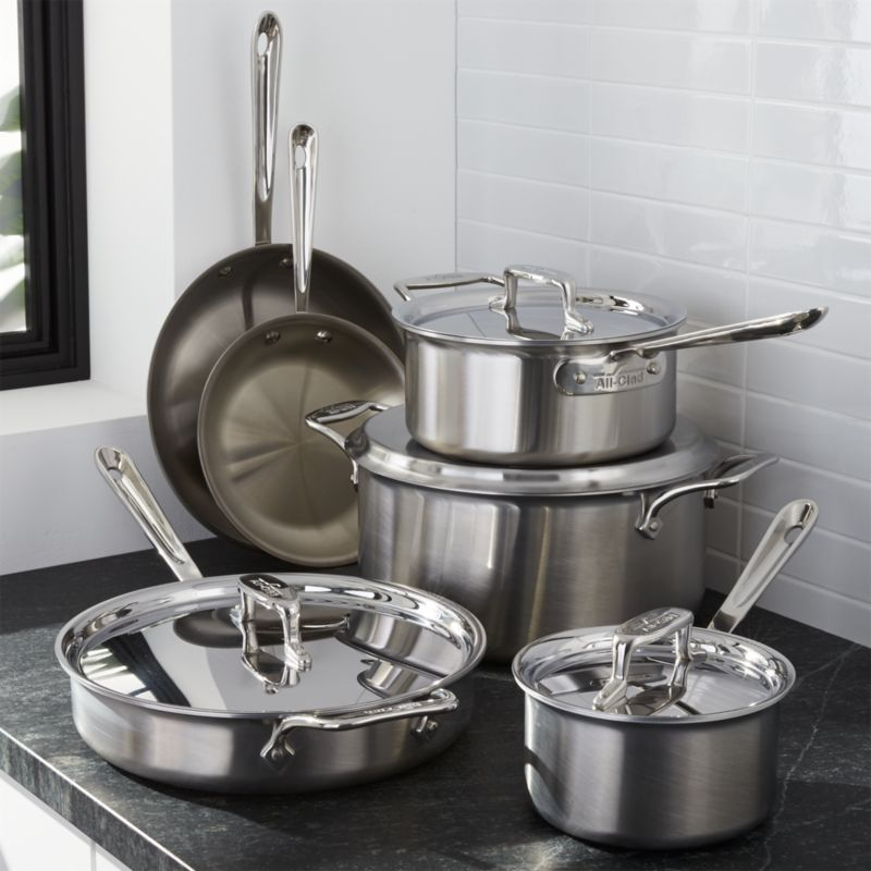 All Clad D5 Brushed Stainless Steel 10 Piece Cookware Set