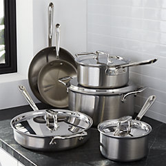 Over 45% off* All-Clad 10 piece D5 Cookware Set