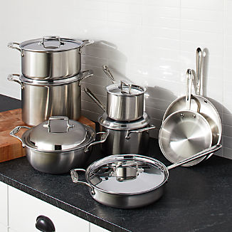 39af9258a4899 All Clad ® d5 Brushed Stainless 14-Piece Cookware Set