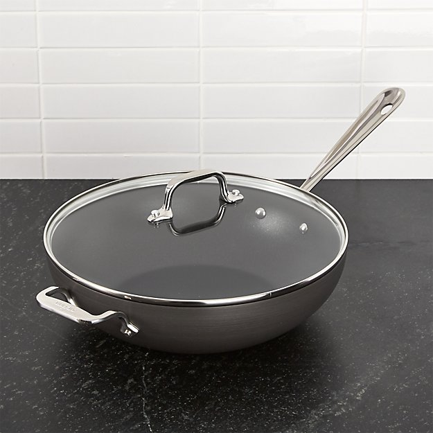 All-Clad ® HA1 Hard-Anodized Chef's Pan with Lid