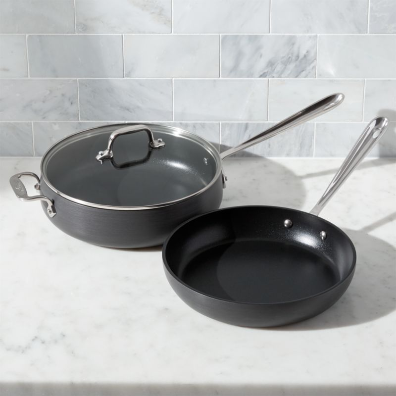 All Clad Ha1 Hard Anodized Nonstick 3 Piece Set Reviews