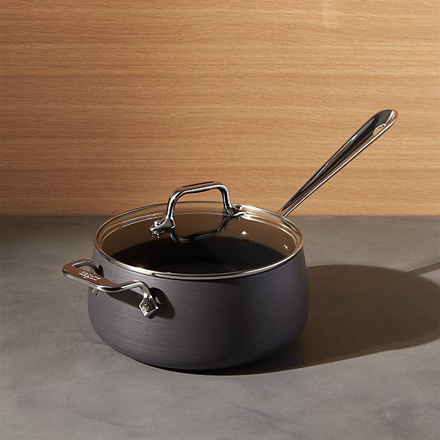 All Clad Ha1 Hard Anodized Non Stick 3 5 Qt Sauce Pan