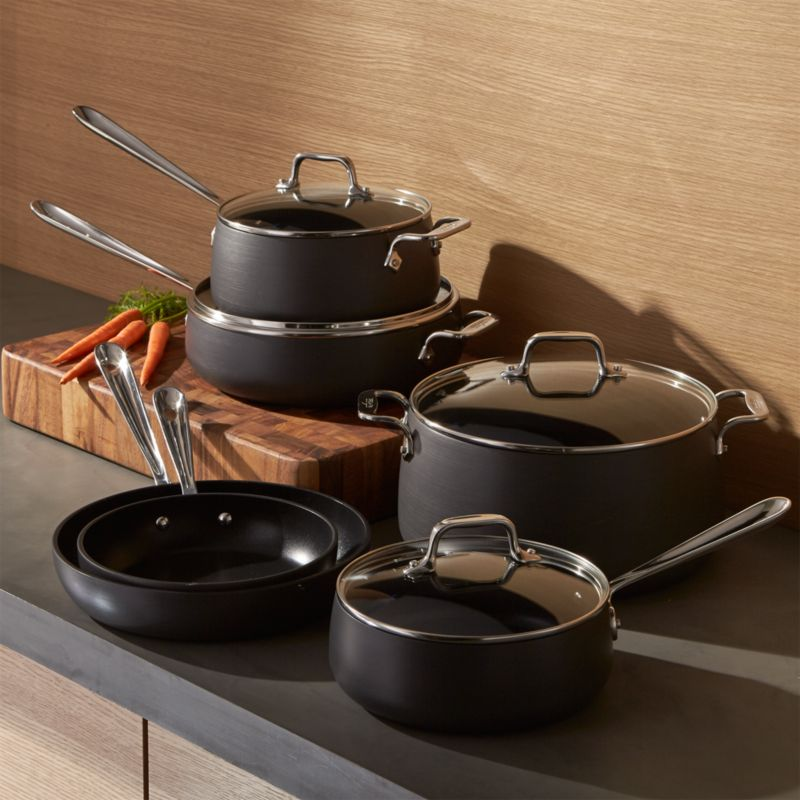 All Clad Ha1 Hard Anodized Non Stick 10 Piece Cookware Set