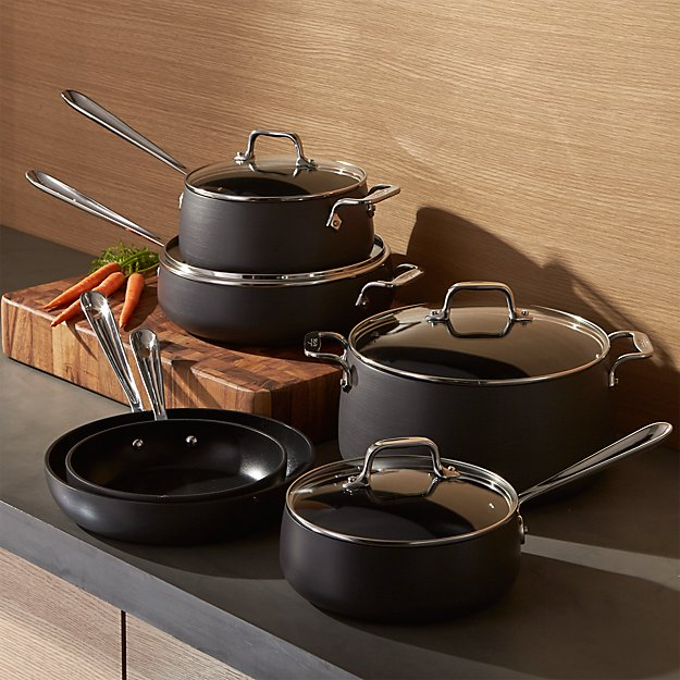 All Clad 174 Ha1 Hard Anodized Non Stick 10 Piece Cookware