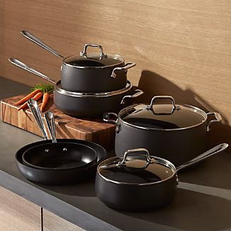 All-Clad ® HA1 Hard-Anodized Non-Stick 10-Piece Cookware Set with Bonus
