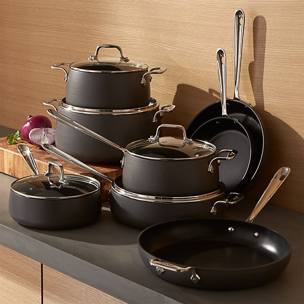 All Clad Ha1 Hard Anodized Non Stick 13 Piece Cookware Set