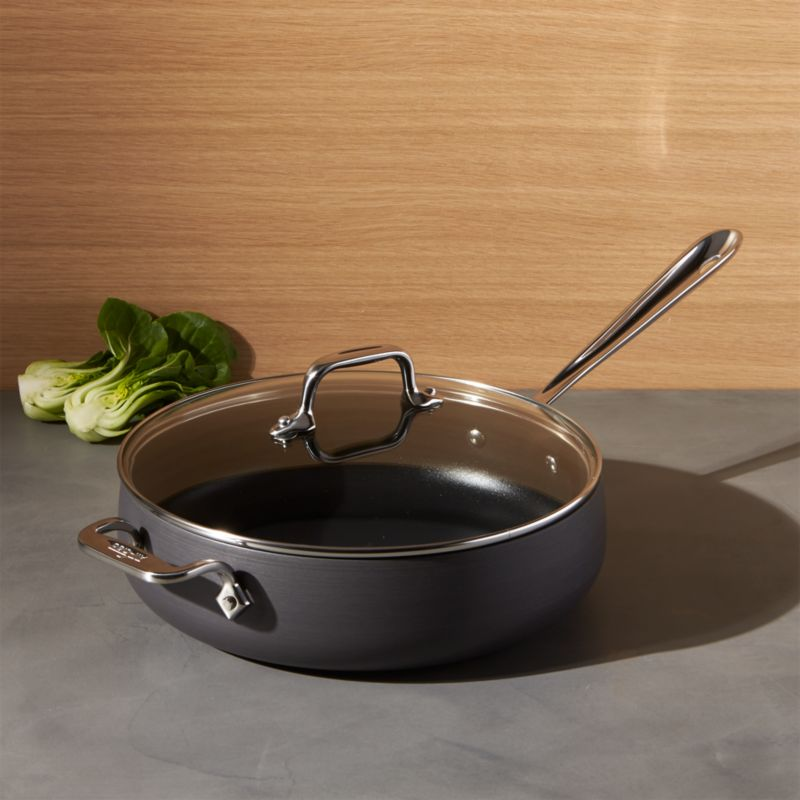 All Clad Ha1 Hard Anodized Non Stick 4 Qt Saut 233 Pan With