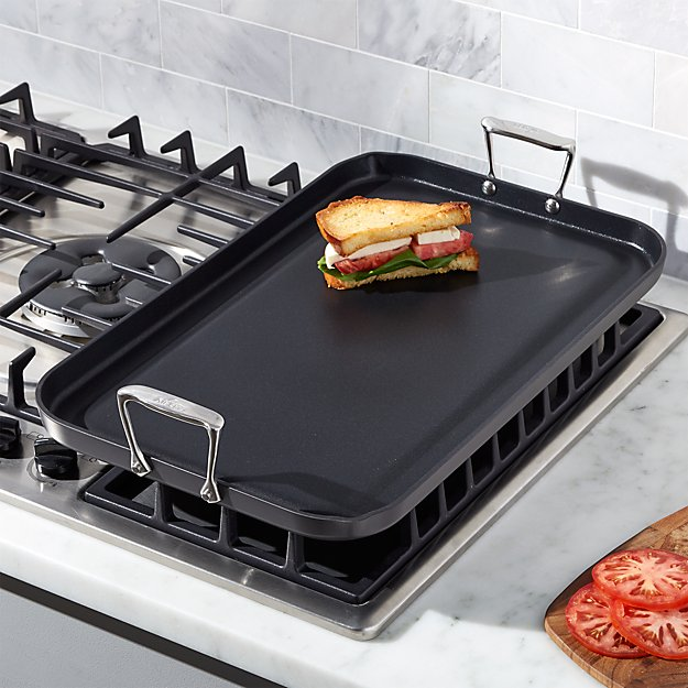 All Clad Ha1 Hard Anodized Nonstick Double Burner Griddle