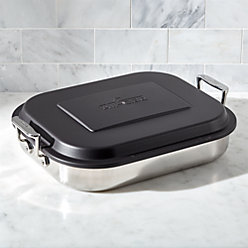 all clad square baker with lid reviews crate and barrel. Black Bedroom Furniture Sets. Home Design Ideas