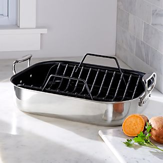 All-Clad ® Large Nonstick Roasting Pan with Rack