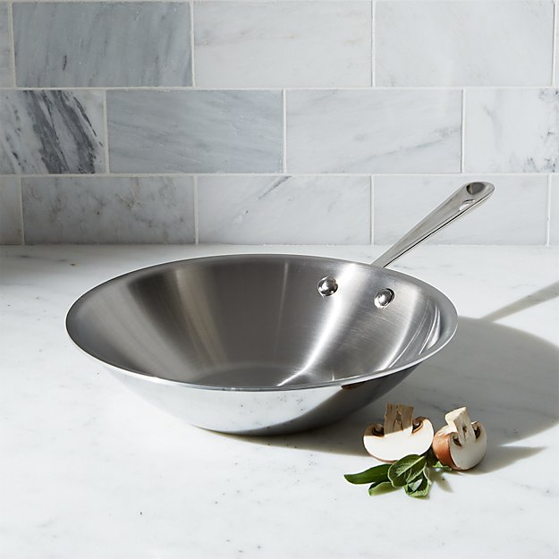 """All-Clad ® Stainless Steel 10"""" Stir-fry Pan"""