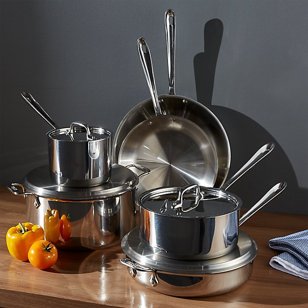 All-Clad ® Stainless 10-Piece Cookware Set with Bonus