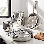 All-Clad © Stainless Steel 10-Piece Cookware Set with Casserole