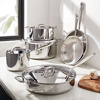 ef205430ed2ce All-Clad © d3 Stainless Steel 10-Piece Cookware Set