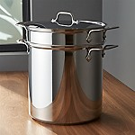 All-Clad ® Stainless Steel 12 qt. Multipot with Perforated Insert and Steamer Basket
