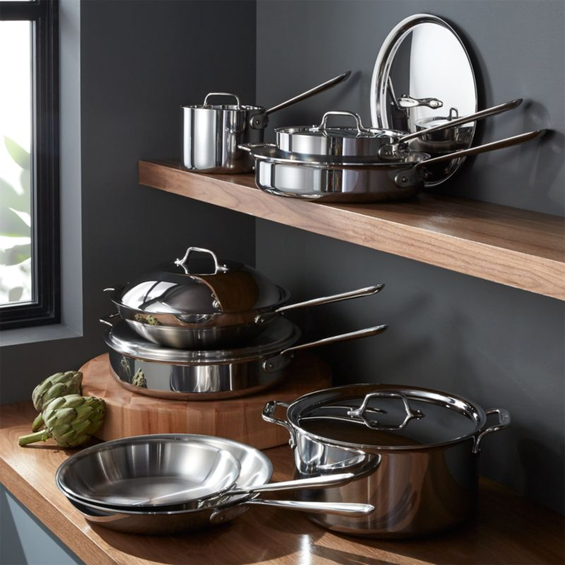 All Clad Stainless 14 Piece Cookware Set With Bonus In Cookware Sets +  Reviews | Crate And Barrel