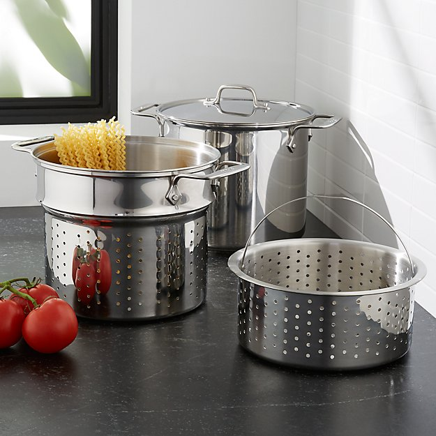 All-Clad 8-Qt. Stainless Steel Multipot With Perforated Insert And Steamer Basket + Reviews