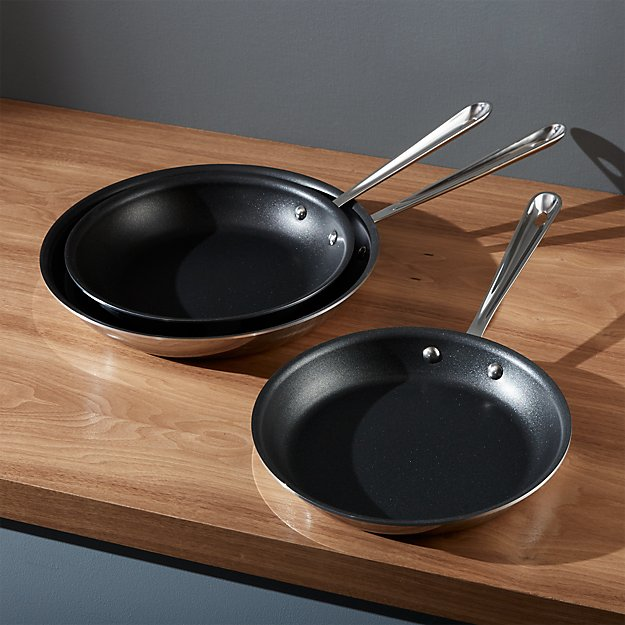 All Clad Stainless Non Stick 10 Quot Fry Pan Crate And Barrel